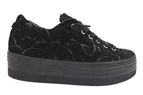 scarpe donna 2 STAR sneakers nero tessuto AP704 (40 EU)