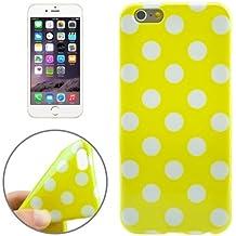 iPhone 6: carcasa Funda Silicona Gel (Tpu) lunares amarillo