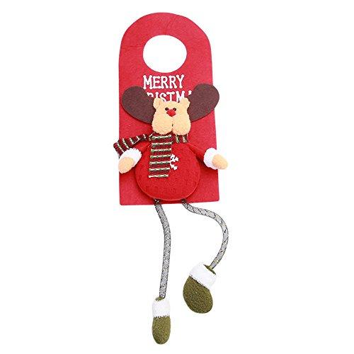 DTWORLD Santa Claus Schneemann Tür Kleiderbügel Zum Aufhängen Anhänger, Weihnachtsbaum Dekoration, Home Ornament Decor (1pc)