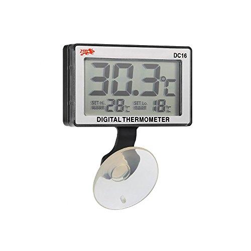 DIGITALTHERMOMETER - Digitalthermometer von 0 ° bis 37 ° C mit optischer Alarmfunktion Salzwasser-aquarium-thermometer