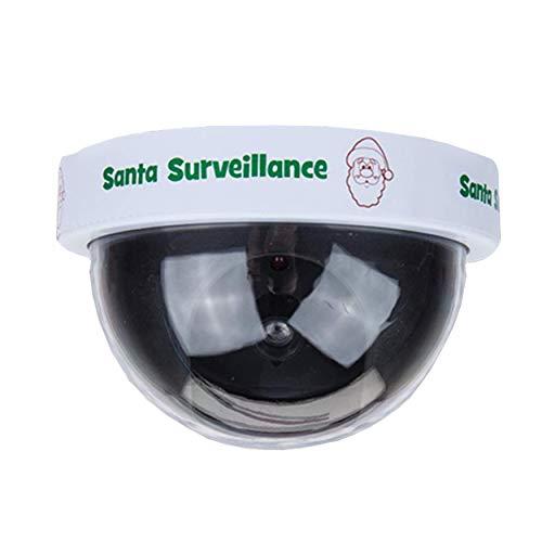 I-CHOOSE LIMITED Weihnachtsmann Weihnachten Dummy-Überwachungskamera/Elfen Benehmen Sich Schlecht/Blinkendes LED-Licht/Der Weihnachtsmann Wird Dich Beobachten (Regal-kostüm Auf Dem Elf)