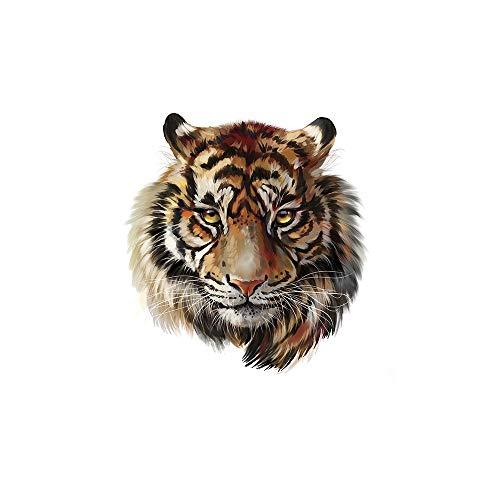 Bügeln Aufkleber Wärmeübertragung DIY Zubehör Kleidung Patches für Frauen leben Tiger Animal Patch Advanced Level waschbar Applikationen 501