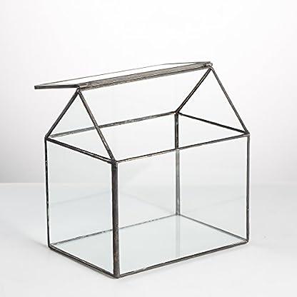 NCYP House Shape Close Glass Geometric Terrarium Wedding Centerpiece Tabletop Succulent Air Plants Planter Window Sill… 6