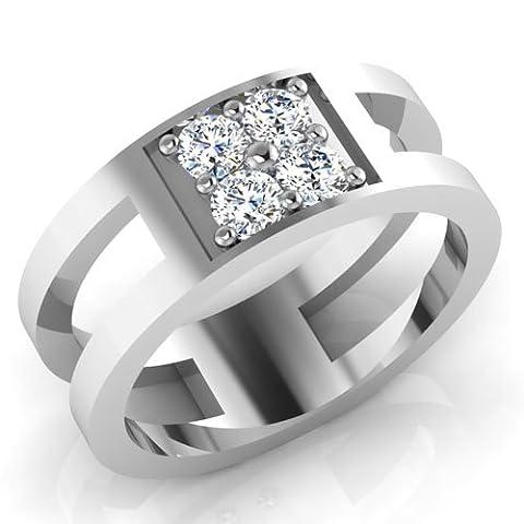 Forever Diamonds - 14 Kt 14 Karat Weißgold Prinzess Leicht Getöntes Weiß/Crystal (J) Diamant