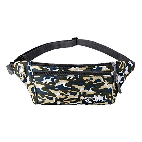Damenmode Handtaschen Umhängetasche Unisex Outdoor Wasserdicht Funktionelle Camouflage Crossbody Tasche Brust Handytaschen -