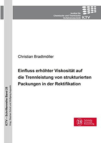 Einfluss erhöhter Viskosität auf die Trennleistung von strukturierten Packungen in der Rektifikation (ICTV-Schriftenreihe)