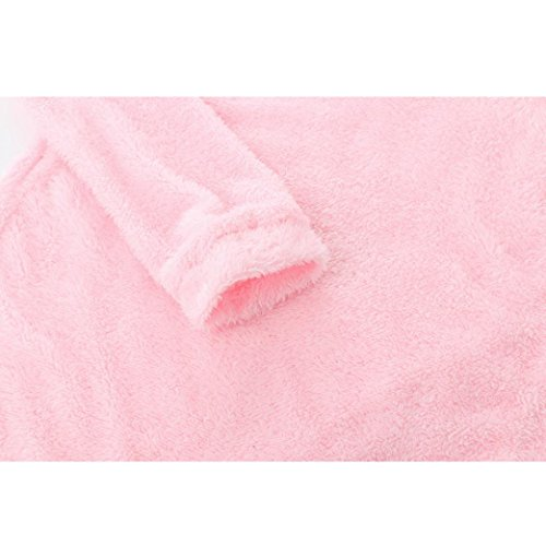 Bonjouree Pull Femme Chandails Hiver Manches Longues Sweaters Blouse Rose