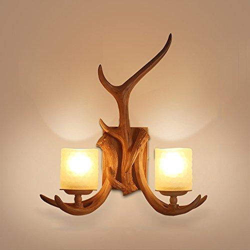 Lámpara pared iluminación LED retro resina creativa