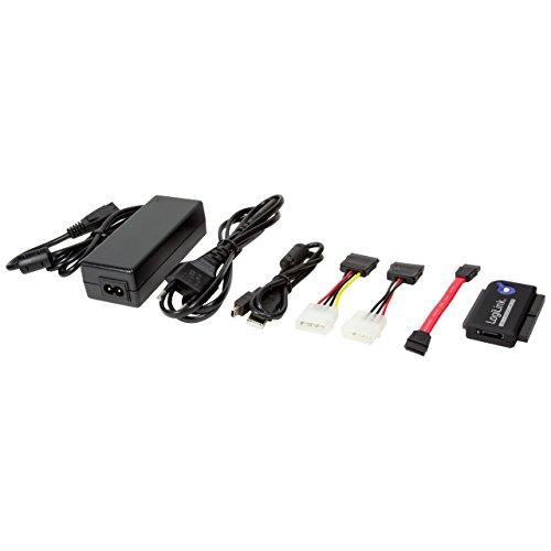 festplatten auslesegeraet LogiLink AU0006D   IDE/SATA Adapter (USB 2.0 auf 6,4 cm (2,5 Zoll)/8,9 cm (3,5 Zoll), 1,2m)