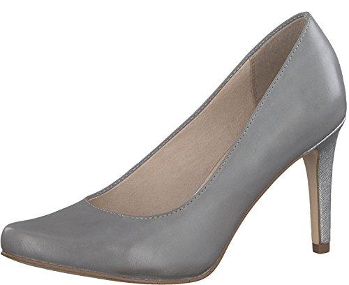 Tamaris Schuhe 1-1-22443-28 Bequeme Damen Pumps, Sommerschuhe für Modebewusste Frau, Grau (Steel), EU 40