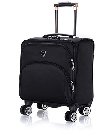 DLYGH Set di valigie Wheeled Backpack Bag Roller Cassa del Computer Portatile con 4 Ruote Spinner Pilota Caso 18' Laptop - Carry-on Overnight vano Bagagli for la Corsa, A (Color : B)