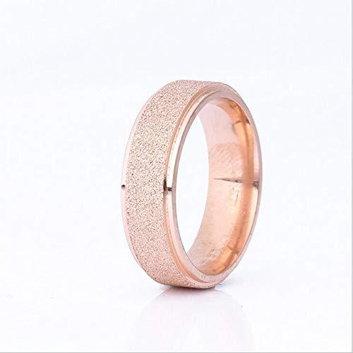 Celerhuak Ring aus satiniertem Titanstahl, Modeschmuck, Silber satinierte Oberfläche in der Mitte und Nuten aus rostfreiem Stahl
