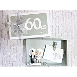 Geldgeschenk Geschenk Verpackung Diamanthochzeit 60. Hochzeitstag Diamantene Hochzeit Geschenkschachtel