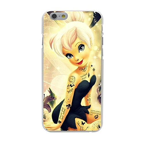 Disney Tinkerbell Schutzhülle Appel Iphone Serie transparent Case Appel Iphone 7 Plus/8 Plus Tattoo Comic Cartoon Hülle -AcAccessoires (Iphone 7 Plus/8 Plus) #0005-03