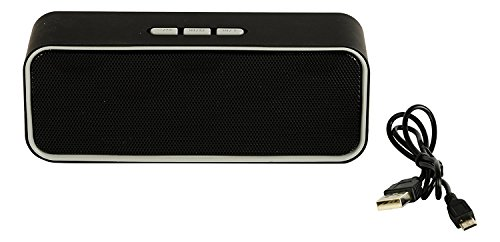 Moblios Mini Sound Bar Bluetooth Boom Box Woofer with Inbuilt TF SD Card, USB, FM Radio, AUX IN, Mic for All Smartphones