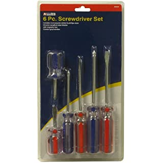 Allied Tools 35025 Screwdriver Set Carded, 6-Piece