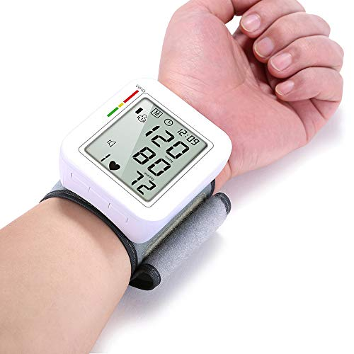 ZRK White Live Voice Intelligent Pressure Charging New Rechargeable Electronic Blood Pressure Monitor Chinese and English Wrist Voice Measuring Instrument