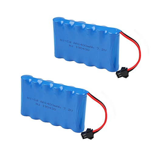 Makerfire Crazepony-UK 7.2V 1400mAh Battery Pack SM Plug for RC Car Spare Parts Accessories
