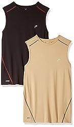 Proline Active Mens T-Shirt (8907007329672 _63001505007_Medium_Sand and Black)