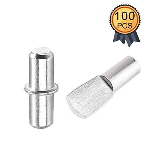 Regalbodenträger, 100 Stück 5mm Metall Regal Stützstifte Pins, 2 Stile für Schrankmöbel 5 Stück Bücherregal