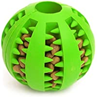 Idepet Dog Toy Ball, Nontoxic Bite Resistant Toy Ball for Pet Dogs Puppy Cat, Dog Food Treat Feeder Tooth Cleaning Ball ,Dog Pet Chew Tooth Cleaning Ball Pet Exercise Game Ball IQ Training ball (Green)