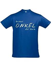 T-Shirt - Bester Onkel der Welt - GEBURTSTAG FUN KULT SHIRT S-XXL