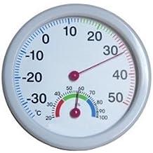 Termometro igrometro analogico TH-108 - Termoigrometro interno/esterno per rettili, permette di controllare temperatura ed umidità - Vasca Idromassaggio Termometro