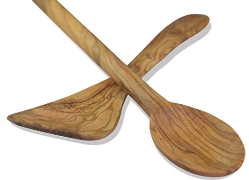 Gusto–set cucchiaio da cucina in legno di ulivo 2pezzi 30cm