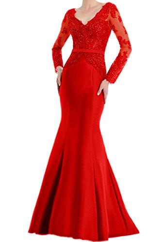 Ivydressing Glamour V-Neck Neu Spitze Langaem Abendkleider Braut Mutterkleider Lang...