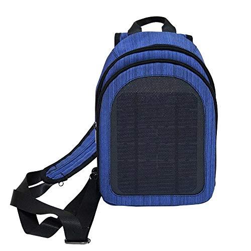 ZLZL Solarbetriebener Rucksack Diebstahlsichere Laptoptasche Wasserdichter Solarrucksack Notfallrucksack FüR Den AußEnbereich Solarladebrett FüR Einzel- Und Doppelreisen UmhäNgetasche