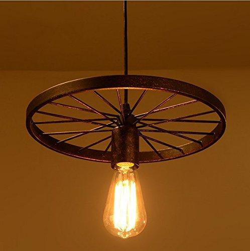 E27 Retro Métal Plafonnier Suspensions Luminaire Créatif Plafond Lustre Industriel Vintage Suspensions Luminaire Antique Pendentif éclairage Simplicité Lampe