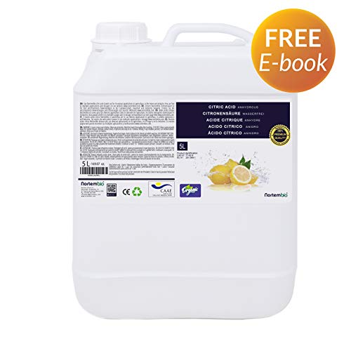 NortemBio Zitronensäure 5L. Citronensäure Flüssiges Konzentrat. 100% Reine. Für Ökologischen Produktion. Entwickelt in Deutschland. (Italienische Zitronen-soda)