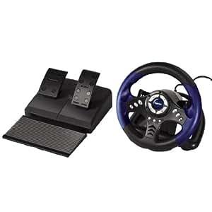 Volant de course + Pédaliers pour PS2 - Thunder V18