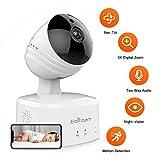 HD 1080P WIFI Überwachungskamera Innen Wlan Handy Wireless IP Kamera mit Bewegungserkennung, 2-wege-audio, Infrarot Nachtsicht, 360° Weitwinkel, Alexa Unterstützt, Baby/Haustier/Haus Sicherheitskamera