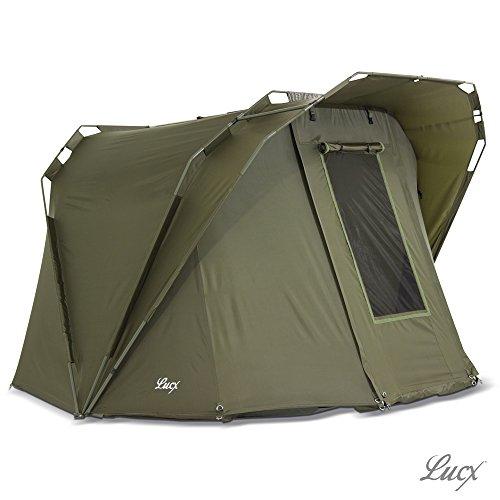 Lucx Bivvy Coon/Angelzelt 1-2 Mann/Karpfenzelt/Zelt, 250x270x165cm, 10.000mm Wassersäule, Campingzelt