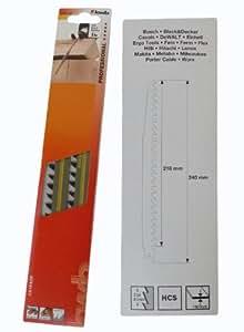 Lames pour scie sabre 240 mm 8,5 lot de 2 matelas très épais