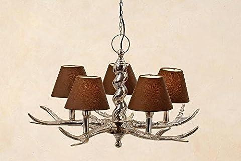 Antler Light - 5 Light Ceiling Lamp - Antler Light with 5 Arms - Diameter 24.02