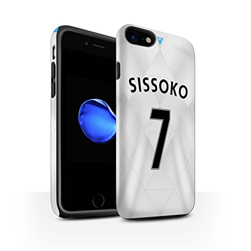 Officiel Newcastle United FC Coque / Matte Robuste Antichoc Etui pour Apple iPhone 7 / Saivet Design / NUFC Maillot Extérieur 15/16 Collection Sissoko
