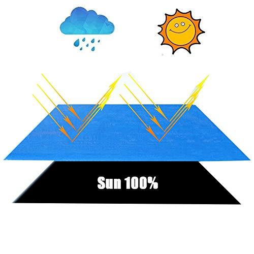Abdeckplane Holz LJIANW Wasserdicht Plane, Campingunterstände Reißfestigkeit Anti-UV Zum Abdecken Gartenmöbel,Camping, Dachdeckung 140 G/Quadratmeter, 13 Größen (Color : Blue, Size : 6 X8 M)