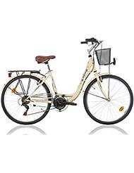 """MBM Bicicleta clásica holandesa Ascot de mujer, 26"""" (66 cm), 18 velocidades"""