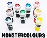 colorant alimentaire liquide - Chaque couleur poids net 8 x 12ml + 1 x gratuit