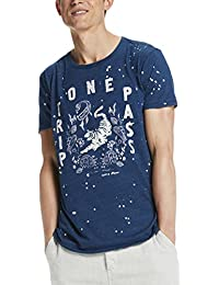 Scotch & Soda Herren T-Shirts Crewneck Tee in Jersey Quality with Artwork