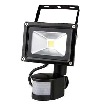 LED Projecteur Lampe Eclairage PIR Capteur Lumière Blanc 800LM 10W AC 85-265V