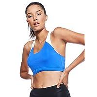 Reebok Women's Workout Ready Medium-Support Padded Bra Top, Blue (Crushed Cobalt), Medium