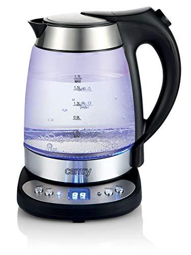 Camry Wasserkocher CR 1242 1,7L Glass-Edelstahl, Temperatureinstellung