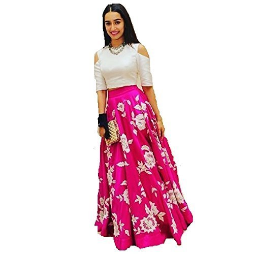OSLC Pink Cotton Lehnga Choli Women's Party Wear New Collection Special Sale...