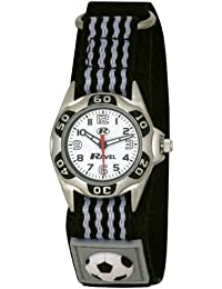 Ravel Children's Black And White Football Strap Watch
