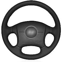HCDSWSN Cubierta del Volante del Coche de Cuero Artificial Negro para 2004-2011 Hyundai Elantra