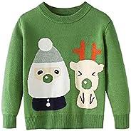 Nemopter - Jersey de manga larga para niña, diseño de Navidad o niña, cuello redondo, manga larga, tejido de a