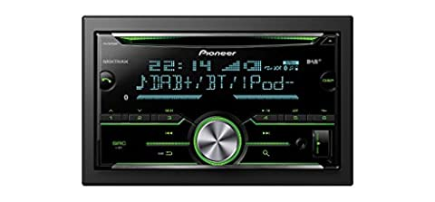 Pioneer Doppel DIN DAB Plus Autoradio FH-X840DAB | CD Autoradio mit Bluetooth Freisprecheinrichtung Front AUX & USB Anschluss RDS Mixtrax Spotify | Digital Autoradio DAB+ Apple & Android Kompatibel